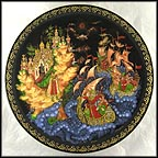 The Arrival of Tsar Saltan Collector Plate by Galina Zhiryakova MAIN