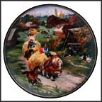 Bringing Home The Harvest Collector Plate by Natalya V. Leonova