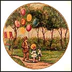 The Balloon Man Collector Plate by Dominic John Mingolla