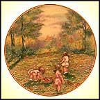 Picking Flowers Collector Plate by Dominic John Mingolla