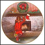 The Littlest Stocking Collector Plate by June Colbert