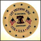 Let Freedom Ring Collector Plate