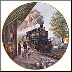 Morning At The Depot Collector Plate by Theodore A. Xaras