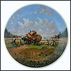 In The Fields At Harvest Time Collector Plate by Christian Lückel