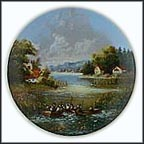 The Fisherman Collector Plate by Christian Lückel