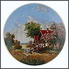 On The Way To Market Collector Plate by Christian Lückel