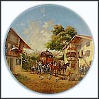 The Arrival Of The Stagecoach Collector Plate by Christian Lückel