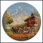 Stop At The Village Inn Collector Plate by Christian Lückel