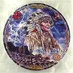 When Lightning Casts Shadows Collector Plate by Bruce Lakofka MAIN