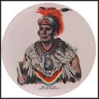 Chief Wapello Collector Plate by C. B. King