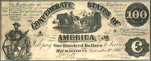 Confederate States of America $100 Note, 9/2/1861, Cat# 13-56A
