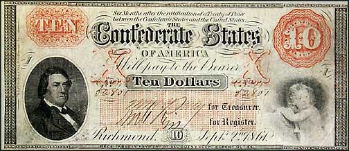 Confederate States of America $10 Note, 9/2/1861, Cat# 24-156