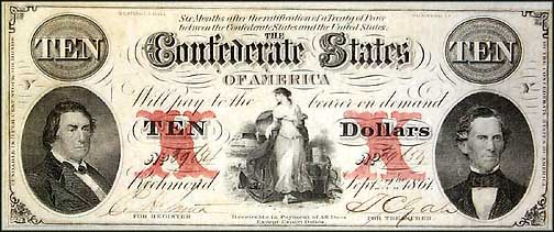 Confederate States of America $10 Note, 9/2/1861, Cat# 26-177