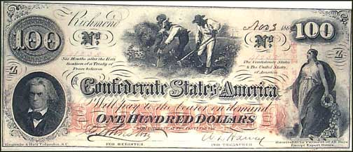 Confederate States of America $100 Note, 1862, Cat# 41-317