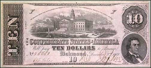 Confederate States of America $10 Note, 12/2/1862, Cat# 52-369