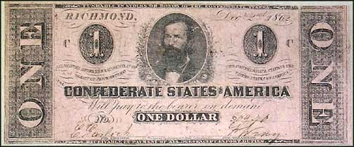 Confederate States of America $1 Note, 12/2/1862, Cat# 55-397