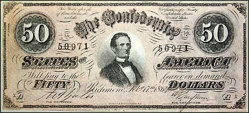 Confederate States of America $50 Note, 2/17/1864, Cat# 66-501