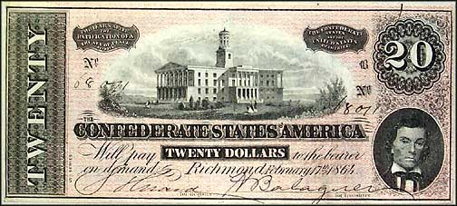 Confederate States of America $20 Note, 2/17/1864, Cat# 67-508