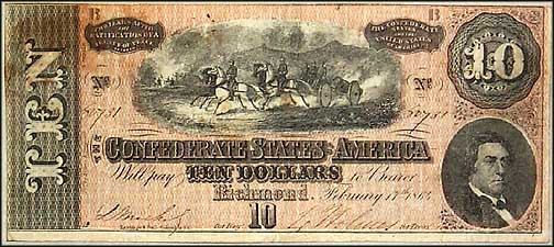 Confederate States of America $10 Note, 2/17/1864, Cat# 68-543 MAIN