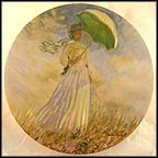 Woman With A Parasol Collector Plate by Claude Monet