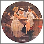 After The Prom Collector Plate by Norman Rockwell