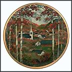 Autumn Village Collector Plate by Eric Sloane MAIN