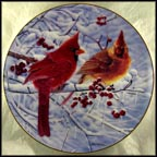 Scarlet In Winter Collector Plate by Bob Travers