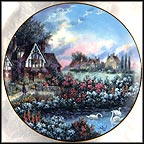 Evening At Guilford Manor Collector Plate by Dennis Patrick Lewan