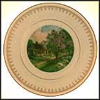 American Homestead - Spring Collector Plate by Currier And Ives