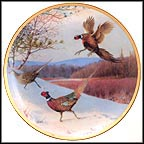 Pheasants Alighting Collector Plate by Owen J. Gromme MAIN