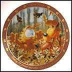 God Created Leaves Collector Plate by Jim Davis