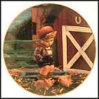 Farm Boy Collector Plate by M I Hummel