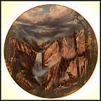 Peaceful Solitude - Yellowstone National Park Collector Plate by Rudi Reichardt