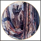 Perfect Disguise - Scops Owl Collector Plate by Trevor Boyer