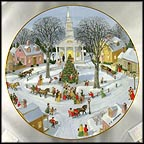 Christmas Tree Lighting Collector Plate by Charlotte Sternberg MAIN