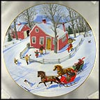 The Race Through Town Collector Plate by Charlotte Sternberg