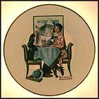 Breakfast Conversation Collector Plate by Norman Rockwell