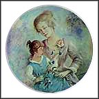 Marie And Jacqueline Collector Plate by Guy Cambier