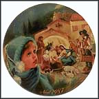 The Starlit Creche Collector Plate by Jean-Claude Guidou