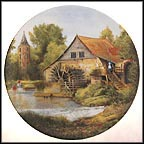 Old Water Mill In Alsace Collector Plate by Michel Julien