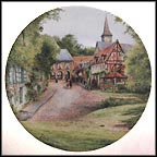 Sunday In A Village Collector Plate by Michel Julien