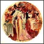 Liane De Pougy Makes Her Entrance at Maxim's - 1900 Collector Plate by Pierre-Laurent Brenot