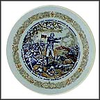Lafayette Wounded At The Battle Of Brandywine Collector Plate by Andre Restieau