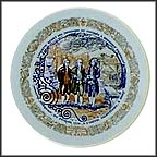 Lafayette Delivers Message To Franklin Collector Plate by Andre Restieau