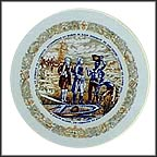 The Landing At North Island Collector Plate by Andre Restieau