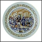 Lafayette Invited To Join Washington's Staff Collector Plate by Andre Restieau