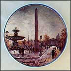 La Place De La Concorde Collector Plate by Louis Dali