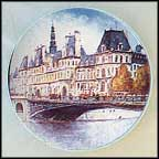 L' Hotel De Ville De Paris Collector Plate by Louis Dali