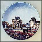 Le Jardin Des Tuileries Collector Plate by Louis Dali