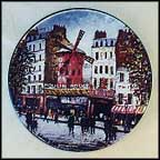 Le Moulin Rouge Collector Plate by Louis Dali
